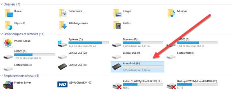 ArmorLock SSD NVMe chiffré