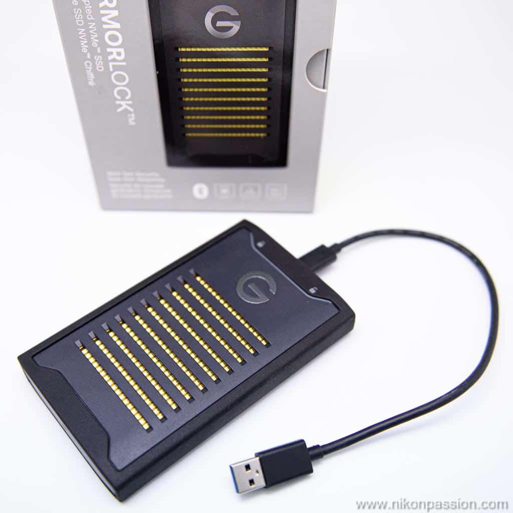 Disque portable ArmorLock SSD NVMe chiffré