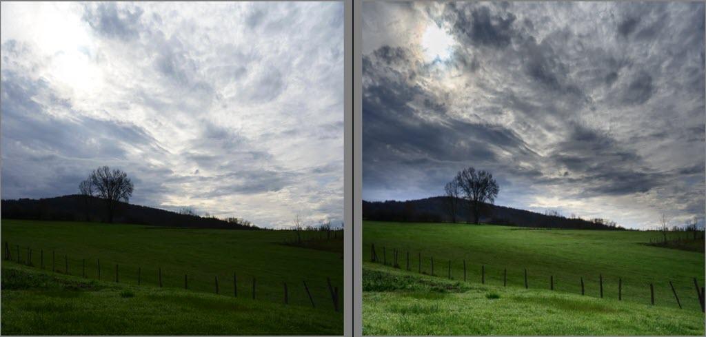 Comment traiter une photo de paysage, avant-après
