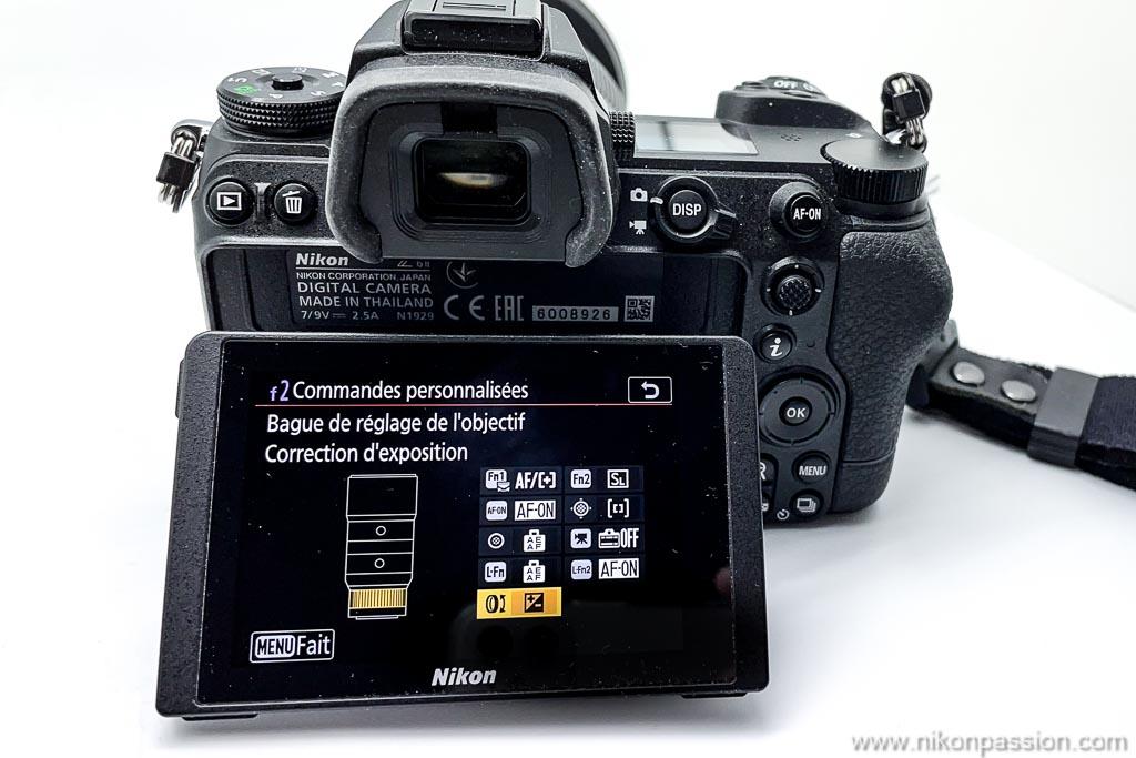 Comment corriger l'exposition avec la bague multifonctions sur un hybride Nikon