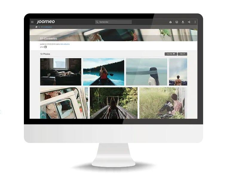 Joomeo stockage, partage, hébergement, vente de photos et vidéos