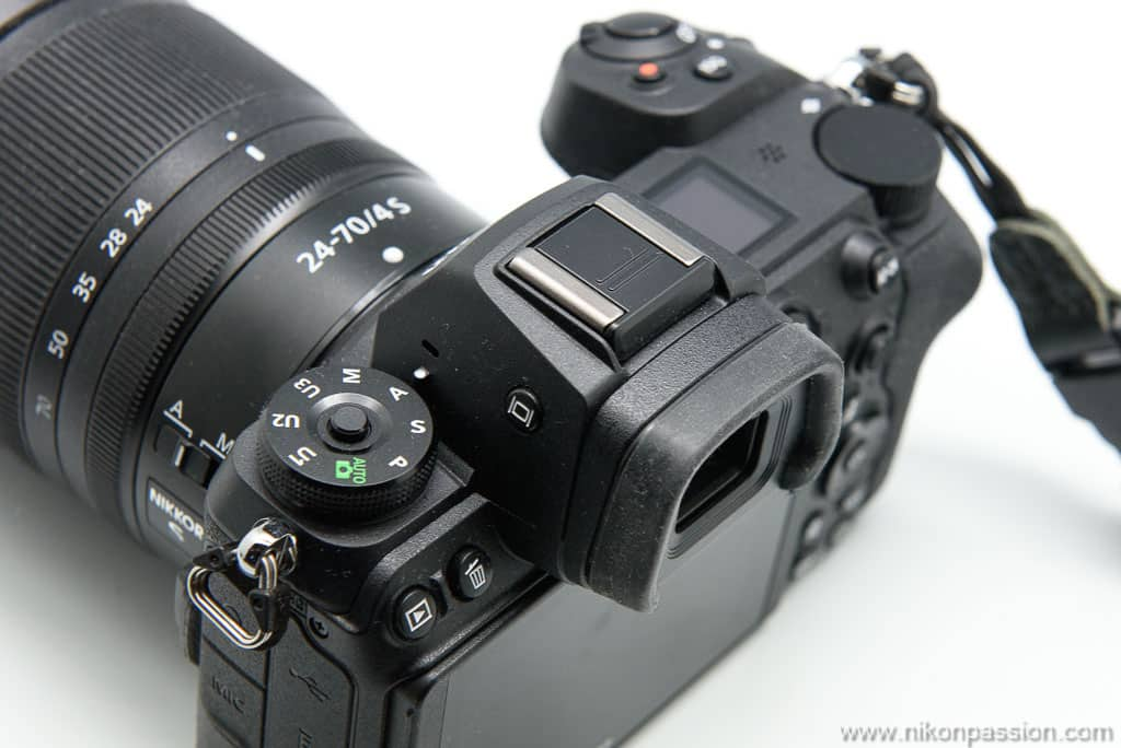 Nikon Z 6II vu de dessus