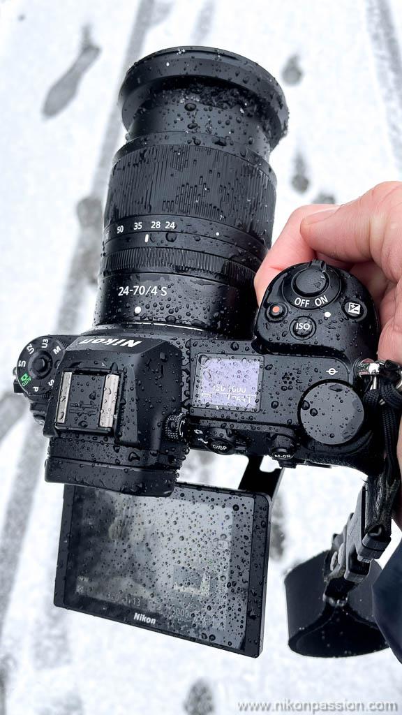 Nikon Z 6II sous la pluie