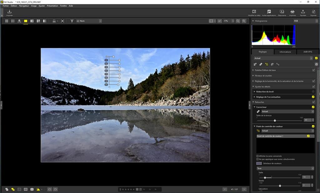 Nikon NX Studio traitement des RAW