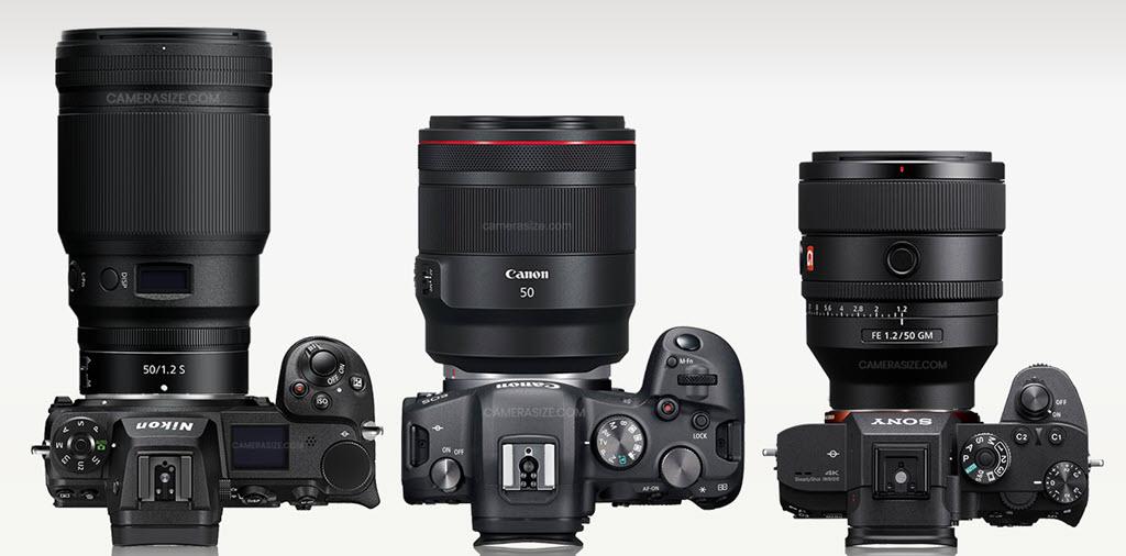 Comparaison 50 mm f/1.2 Nikon, Canon, Sony