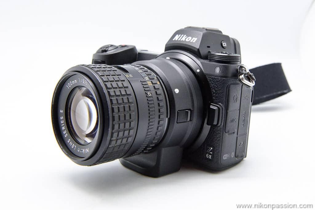 objectif Nikon NIKKOR 100 mm f/2,8 série E sur Nikon Z 6II
