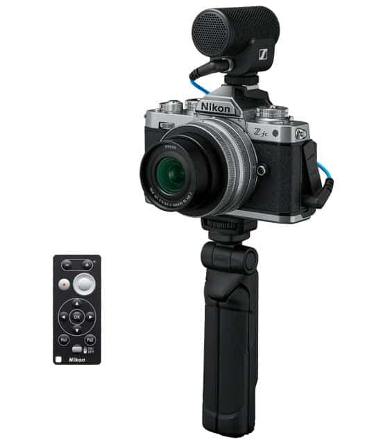 Kit Nikon Z fc vlogger avec micro, télécommande et trépied