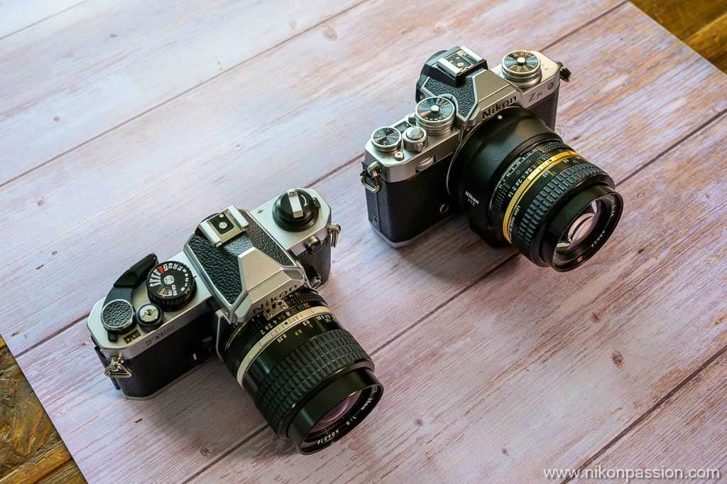 comparaison Nikon Z fc vs Nikon FM2