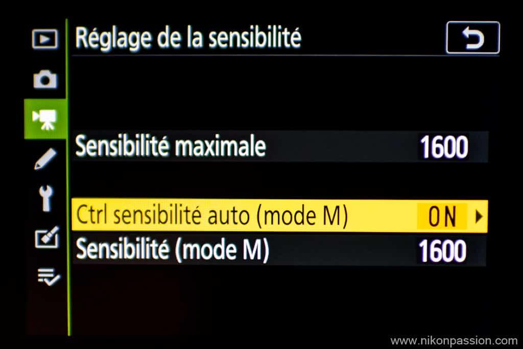 ISO-AUto en vidéo sur hybride Nikon